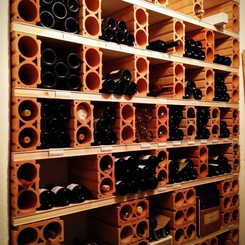 Weinregal Weinschrank Und Weinkeller Selber Bauen von Weinregal Aus Holz Selber Bauen Bild