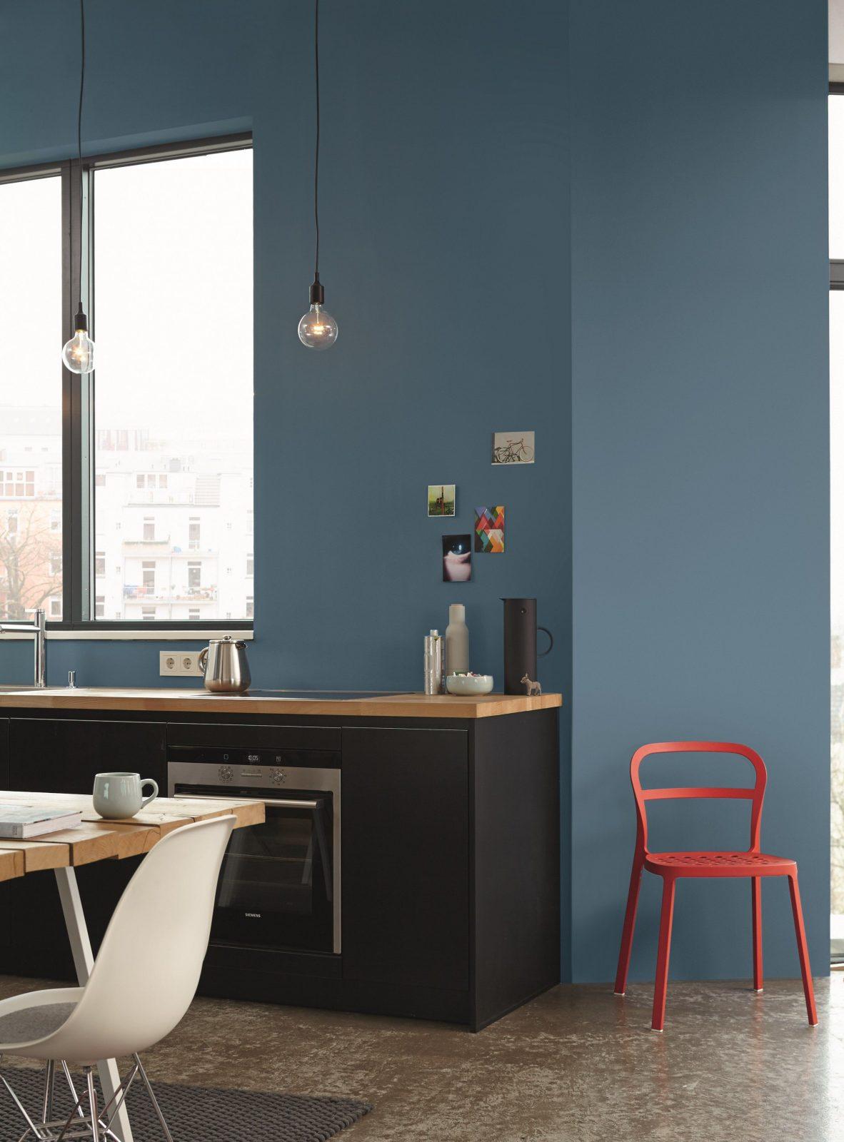 Weiße Küche Wandfarbe Großartig Kuche Farbige Wand Ideen Fürs Küche von Wände Streichen Ideen Küche Bild