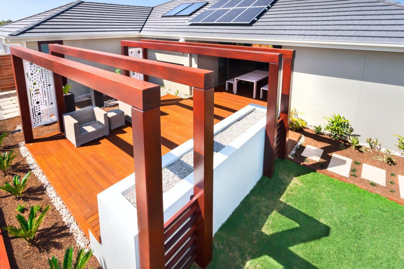 Welche Und Wie Viele Stützen Benötigt Eine Terrassenüberdachung von Freistehende Überdachung Selber Bauen Bild