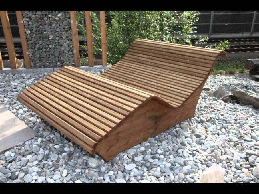 Wellnessliegen  Youtube von Gartenliege Selber Bauen Aus Paletten Photo