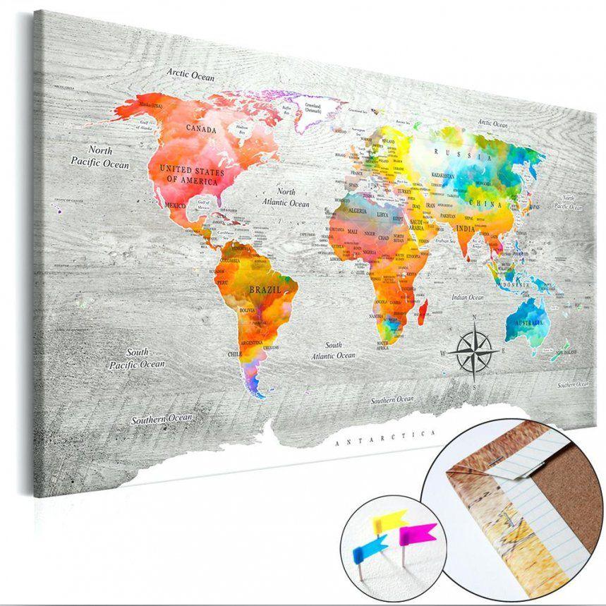 Weltkarte Pinnwand Pinnwand Inklusive Markierfhnchen Kork X Cm Also von Weltkarte Pinnwand Selber Machen Photo