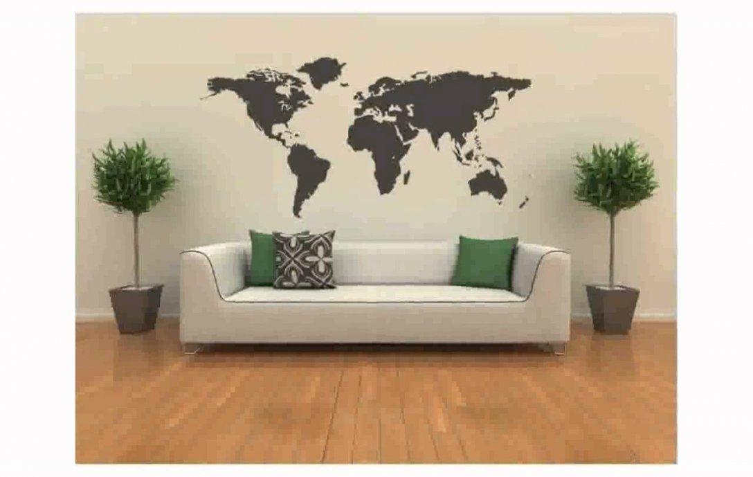 Weltkarte Wandtattoo  Youtube von Wandtattoo Weltkarte Mit Ländergrenzen Photo