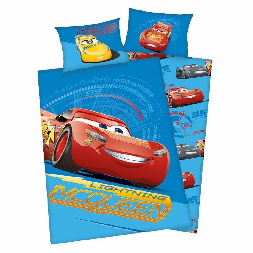 Wende Bettwäsche Blau  Baumwolle 100 X 135 Cm  Disney Cars von Kikaninchen Bettwäsche 100X135 Bild