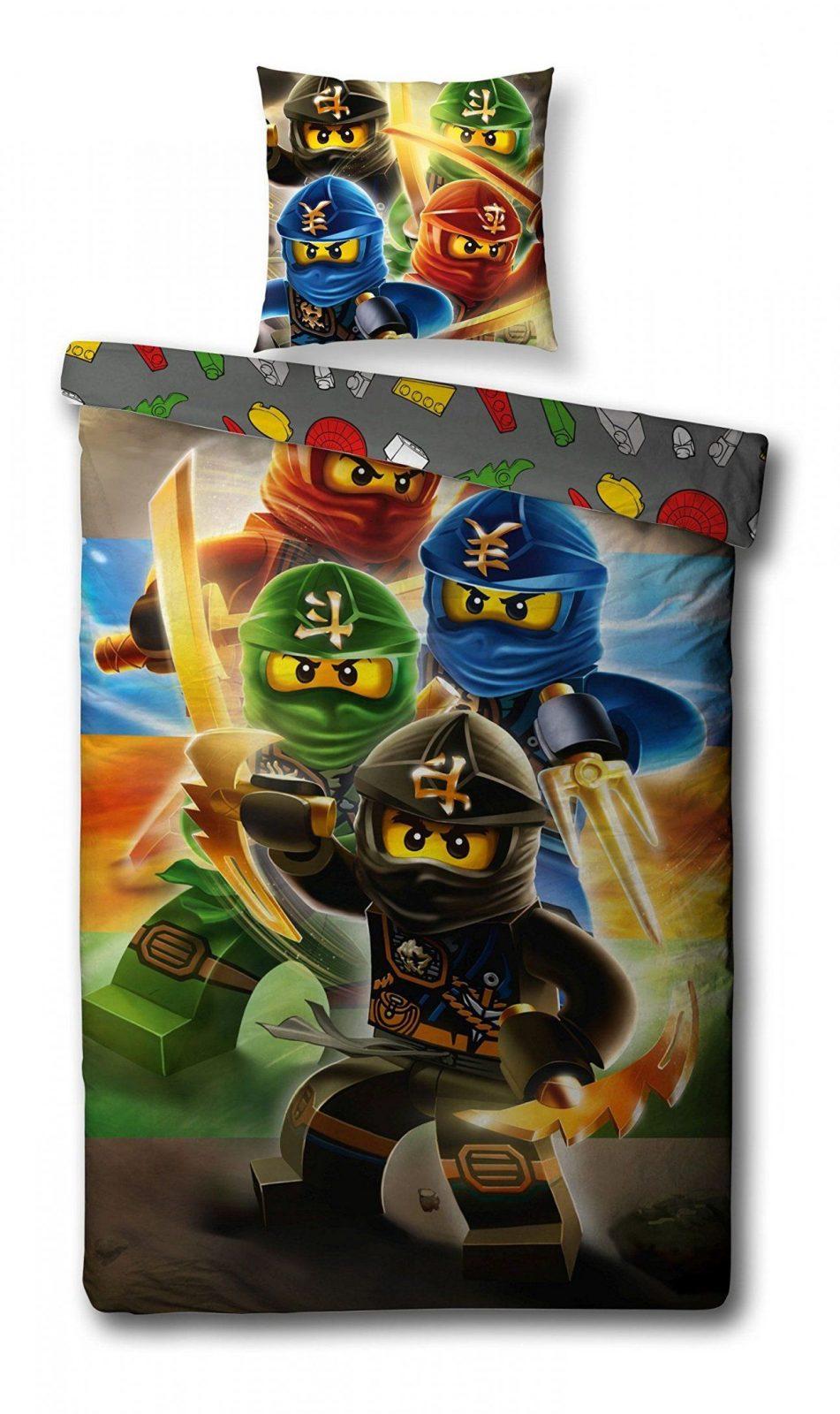 Wende Bettwäsche Set Lego Ninjago 135X200Cm + 80X80Cm Linon von Kaufhof Bettwäsche 155X220 Photo