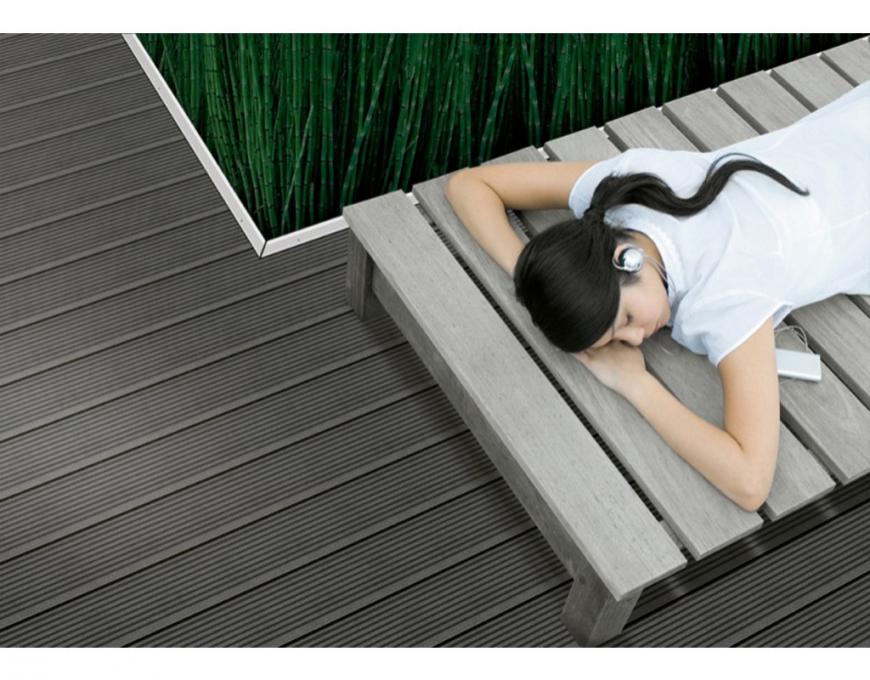 Werzalit Terrassenprofil Terraza 4000X145X38Mm Terracotta  Wpc von Werzalit Platten Nach Maß Photo