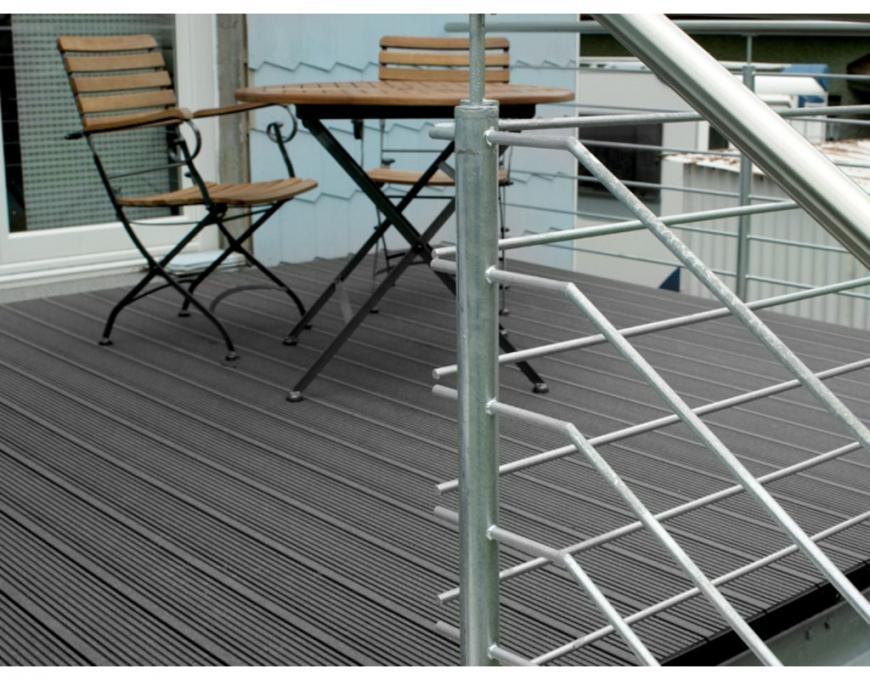 Werzalit Terrassenprofil Terraza Bz 4000X145X38Mm Topino  Wpc  Bpc von Werzalit Platten Nach Maß Photo
