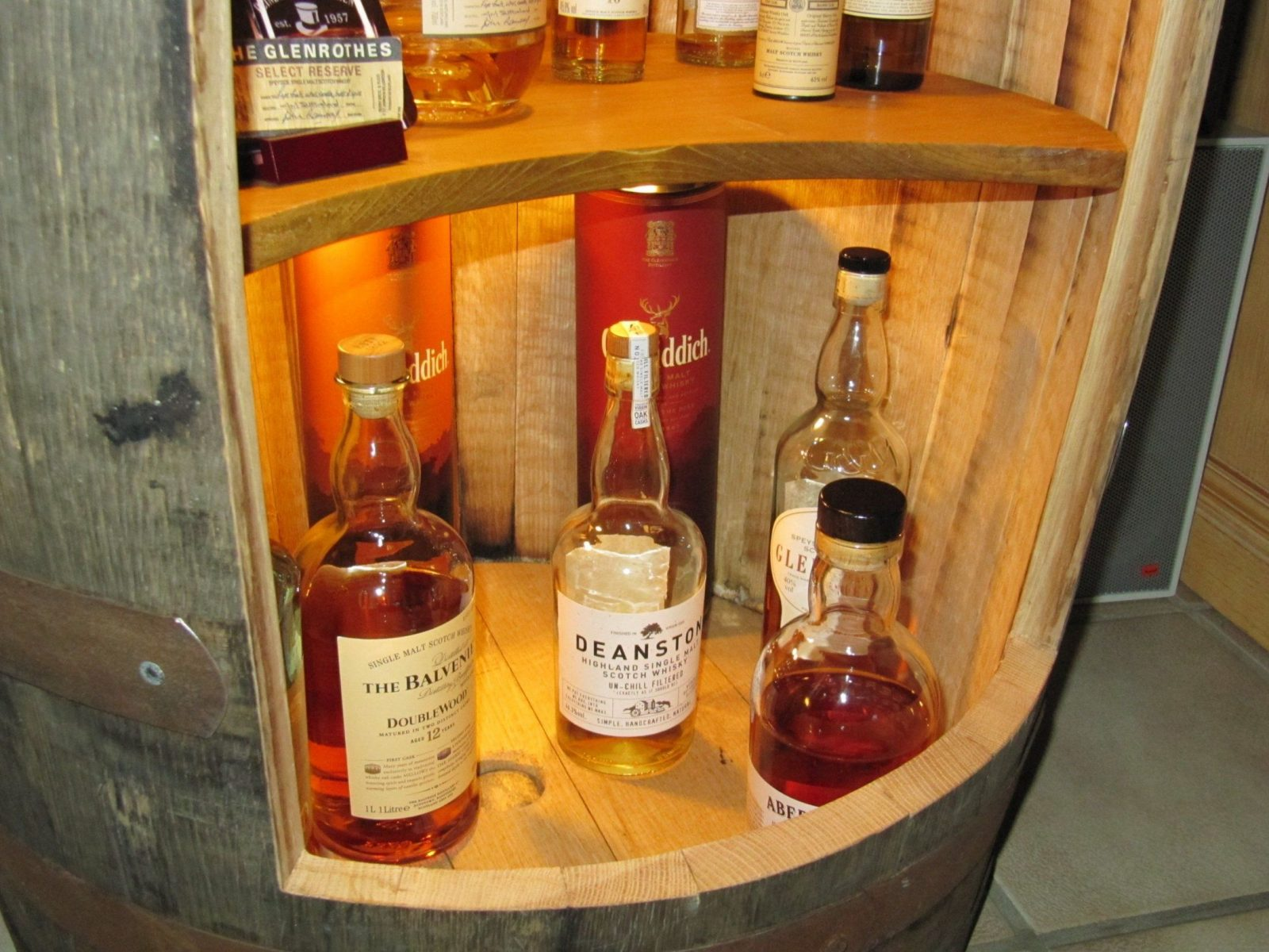 Whiskeyfass Als Flaschenregal Bauanleitung Zum Selber Bauen von Weinfass Bar Selber Bauen Bild