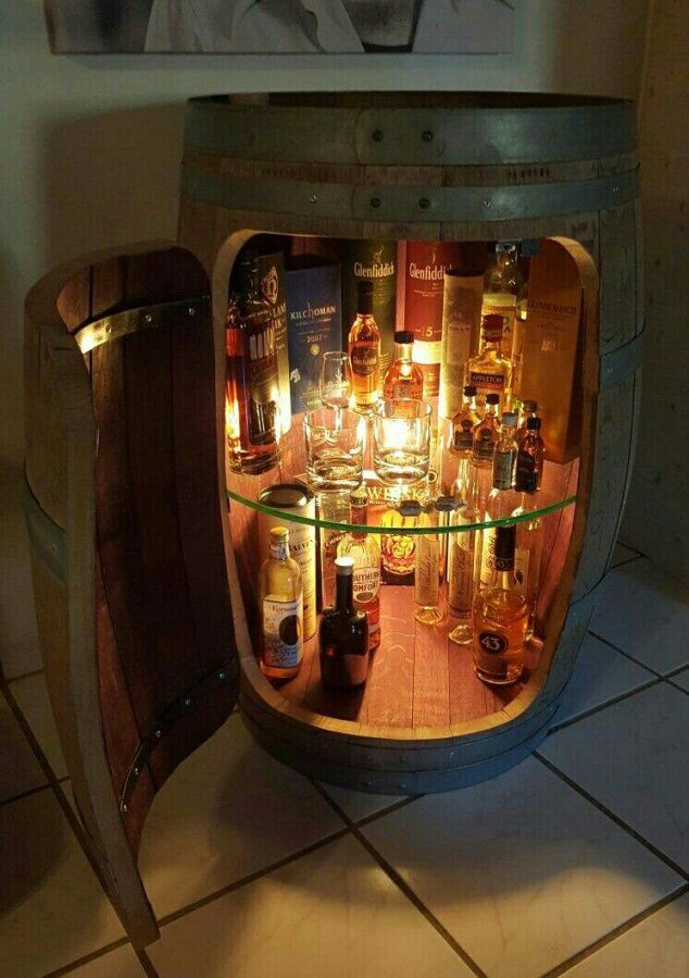 Whiskyfass Vitrine Diy (Diy Decoracion Rustica)  Crafts  Pinterest von Weinfass Bar Selber Bauen Bild