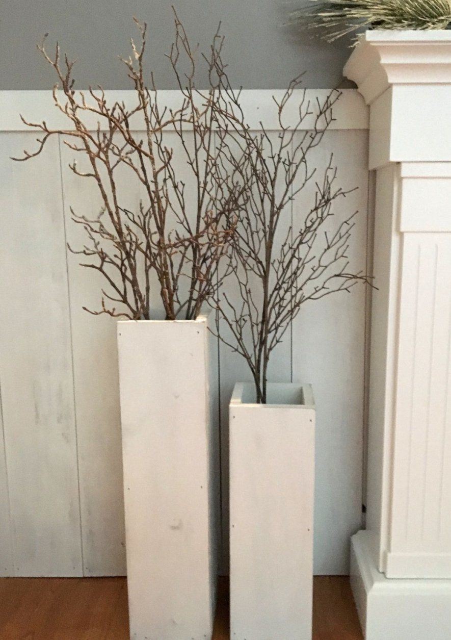 White Wooden Vases Reclaimed Wood Distressed Wood Floor Vases von Large White Floor Vase Bild