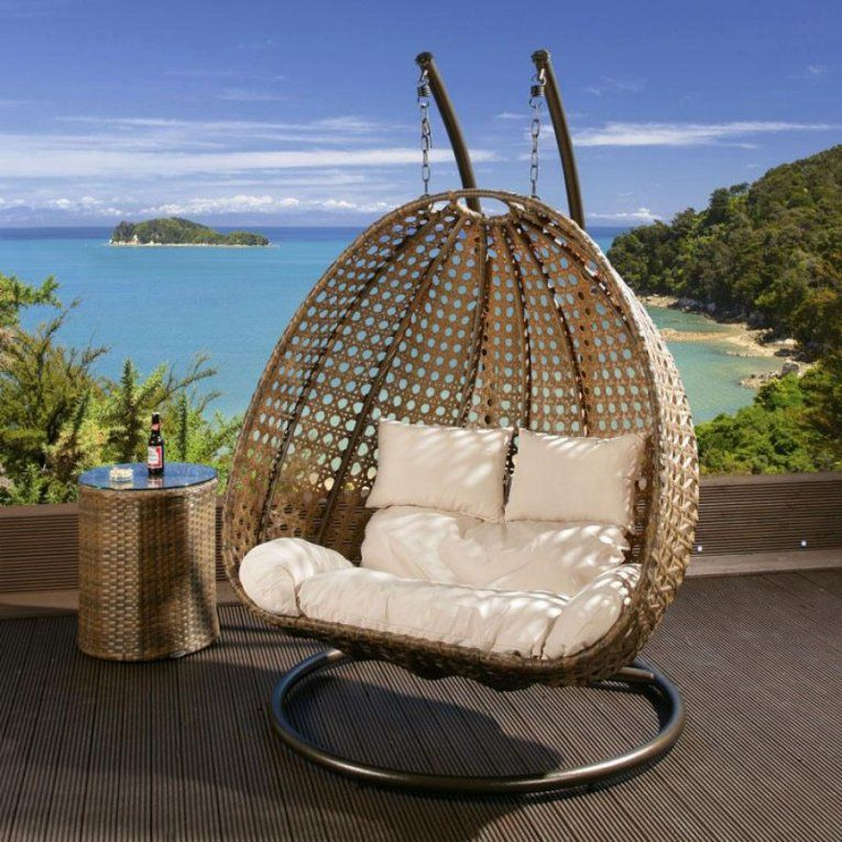 Wicker Round Swing Bed  Kimberly Porch And Garden  Best Round von Round Rattan Swing Bed Photo