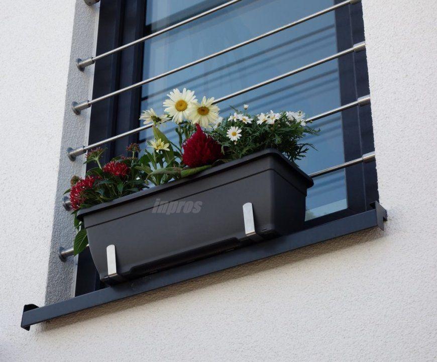 Wie Befestigt Man Einen Blumenkasten Sicher Auf Der Fensterbank von Fenster Ohne Fensterbank Außen Photo