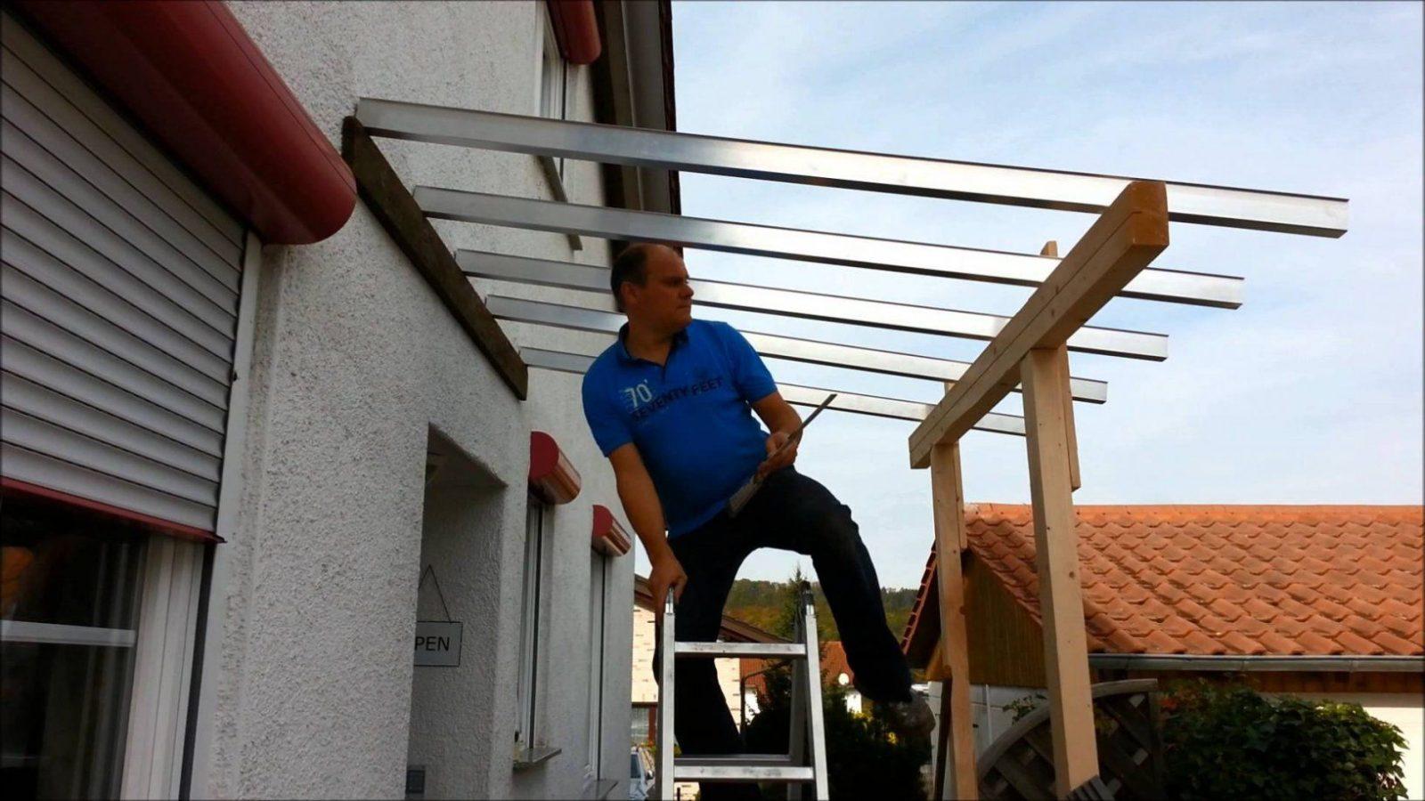 Wie Plant Man Ein Vordach An Der Haustür  Youtube von Vordach Selber Bauen Bauanleitung Photo