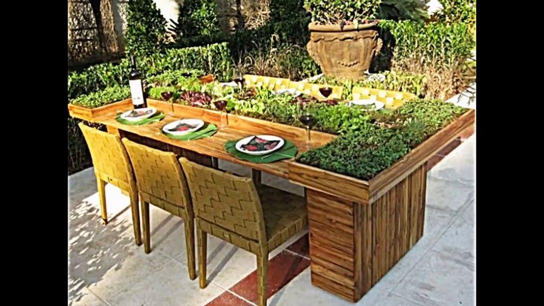 Wie Sie Tisch Aus Europaletten Selber Bauen Und Dann Bepflanzen von Esstisch Aus Paletten Bauen Photo