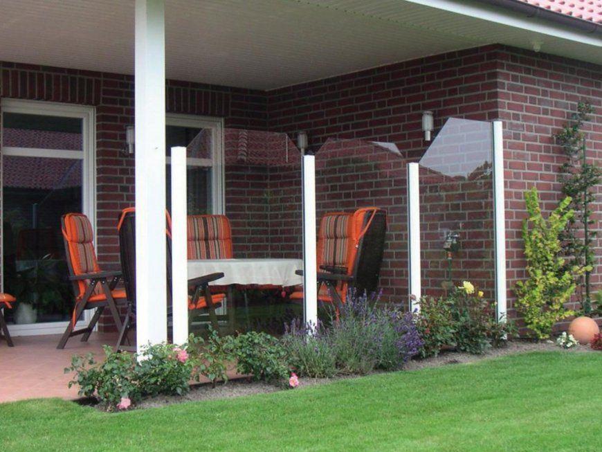 Windschutz Für Die Terrasse Den Garten Oder Den Balkon von Windschutz Für Terrasse Aus Glas Bild