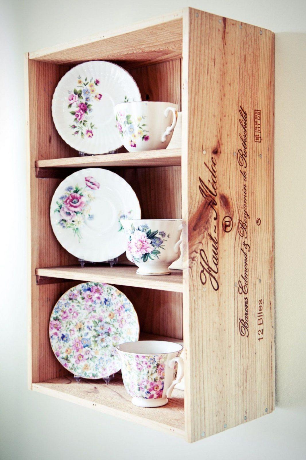 Wine Box Shelves  Wine Box Ideas  Pinterest von Küchen Regale Selber Bauen Bild