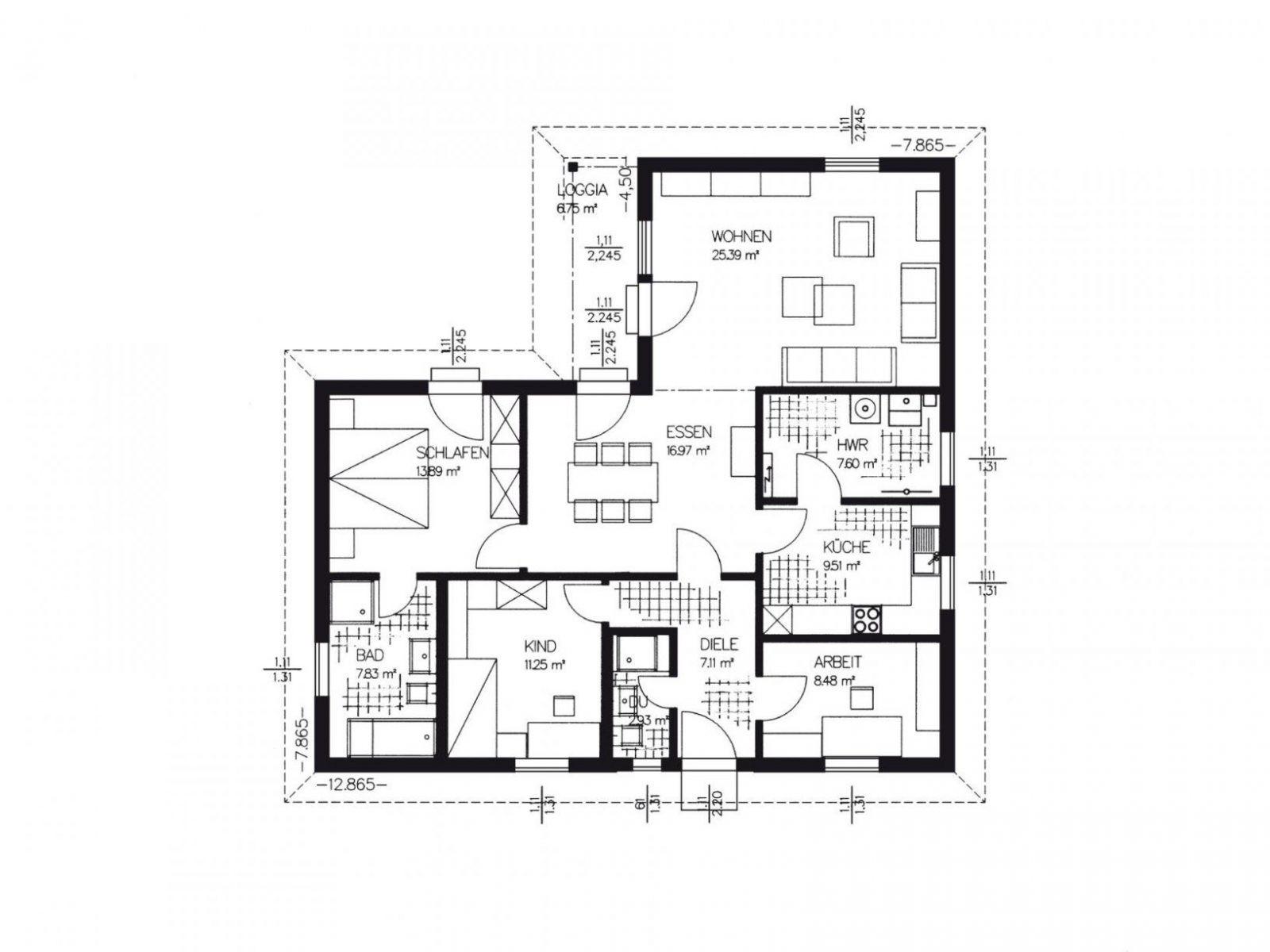 Winkelbungalow  Haacke Haus von Haus L Form Grundriss Bild