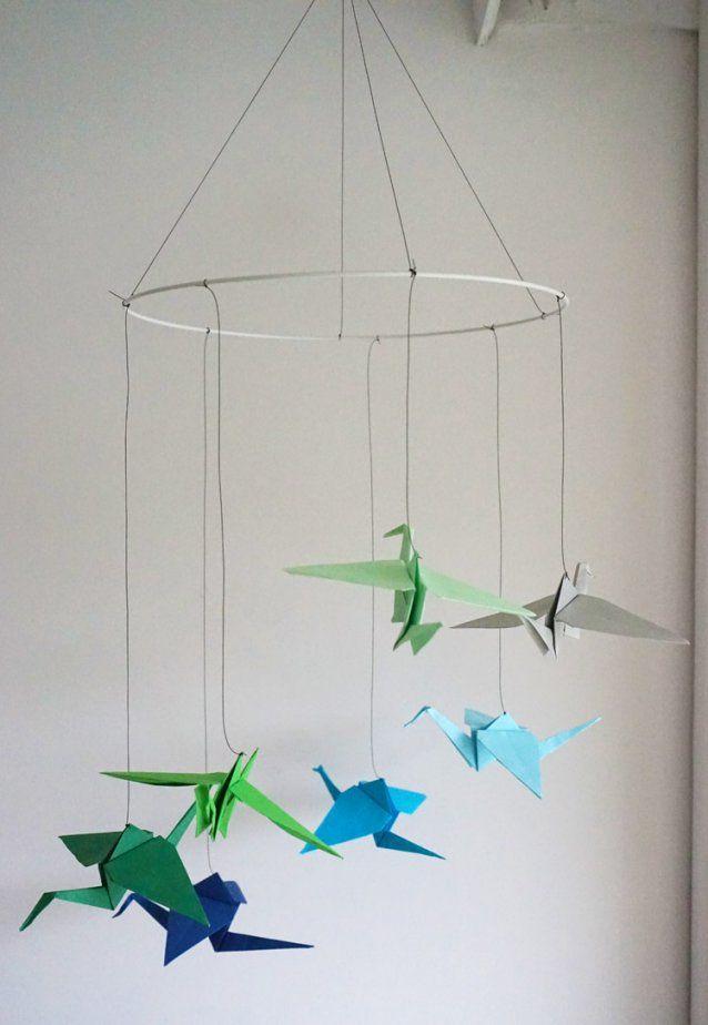 Wir Basteln Ein Origami Mobile Mit Kranichen  Pinolino Blog von Mobile Selber Basteln Baby Bild