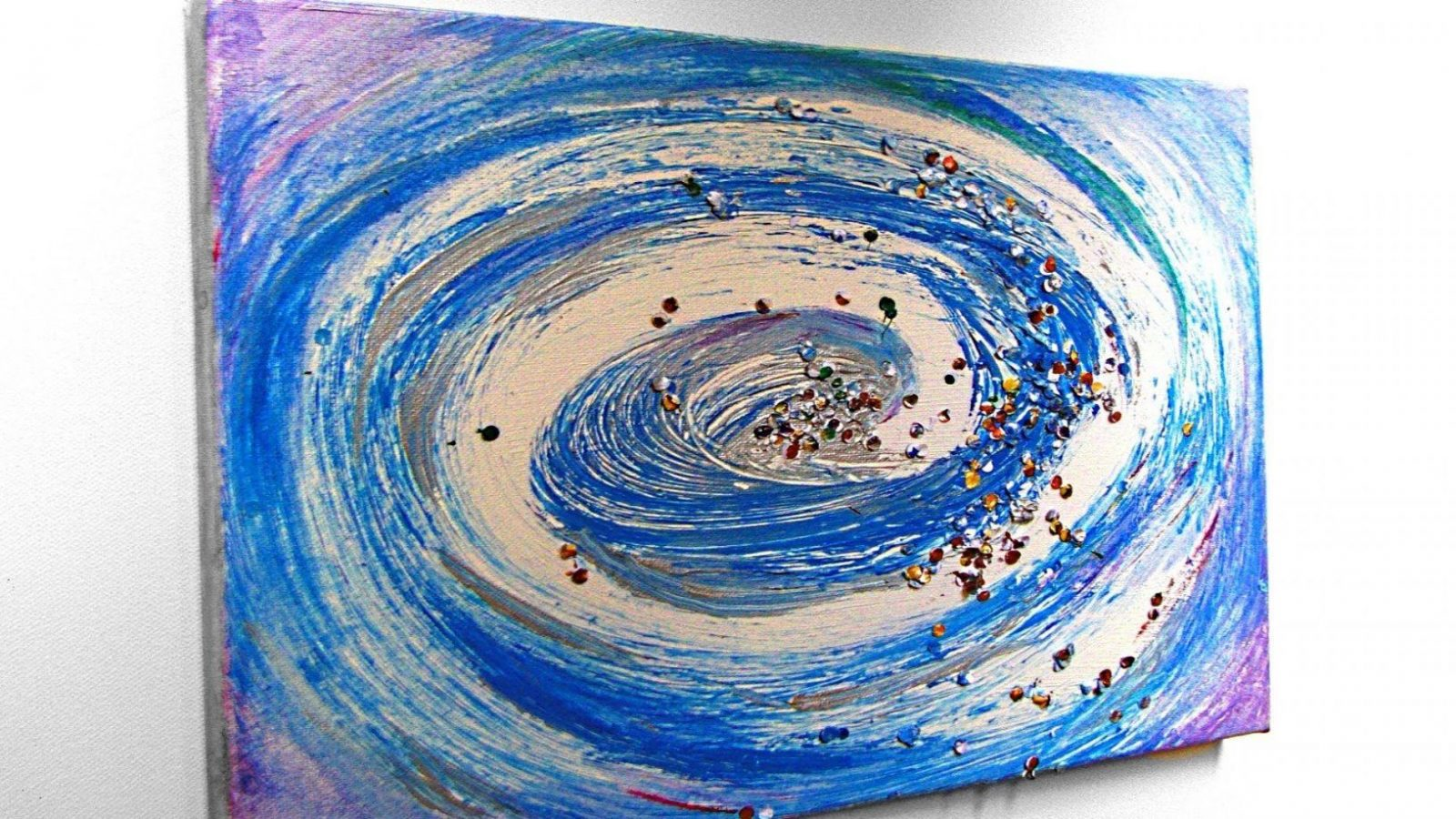 Wirbel Abstrakt Malen Mit Acryl (Whirl Abstract Painting With von Acrylbilder Selber Malen Für Anfänger Photo