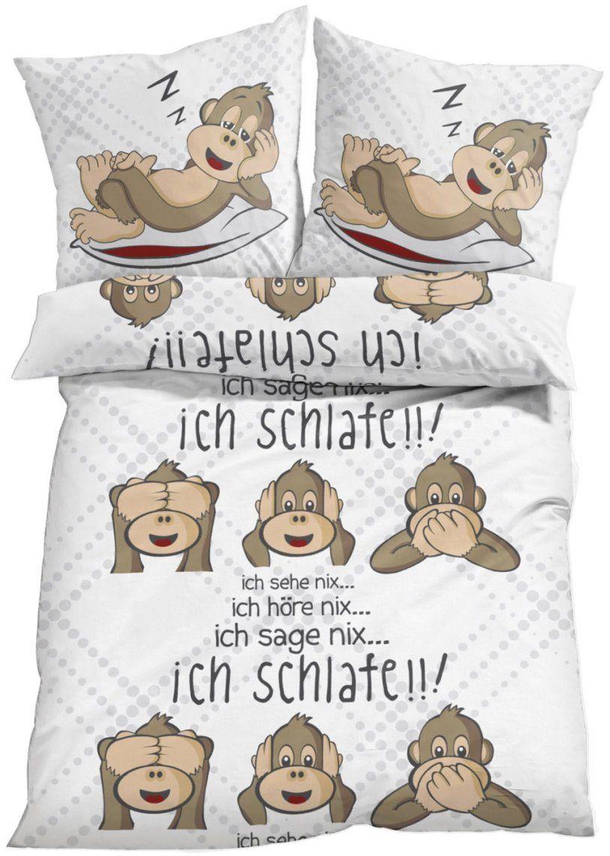 Witzige Bettwäsche – Nicht Nur Für Das Kinderzimmer Geeignet  Weiß von Bonprix Biber Bettwäsche Bild