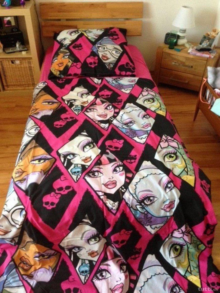 Wo Monster High Bettwaesche Set Zu Kaufen  Dibinekadar Decoration von Monster High Bettwäsche Biber Photo