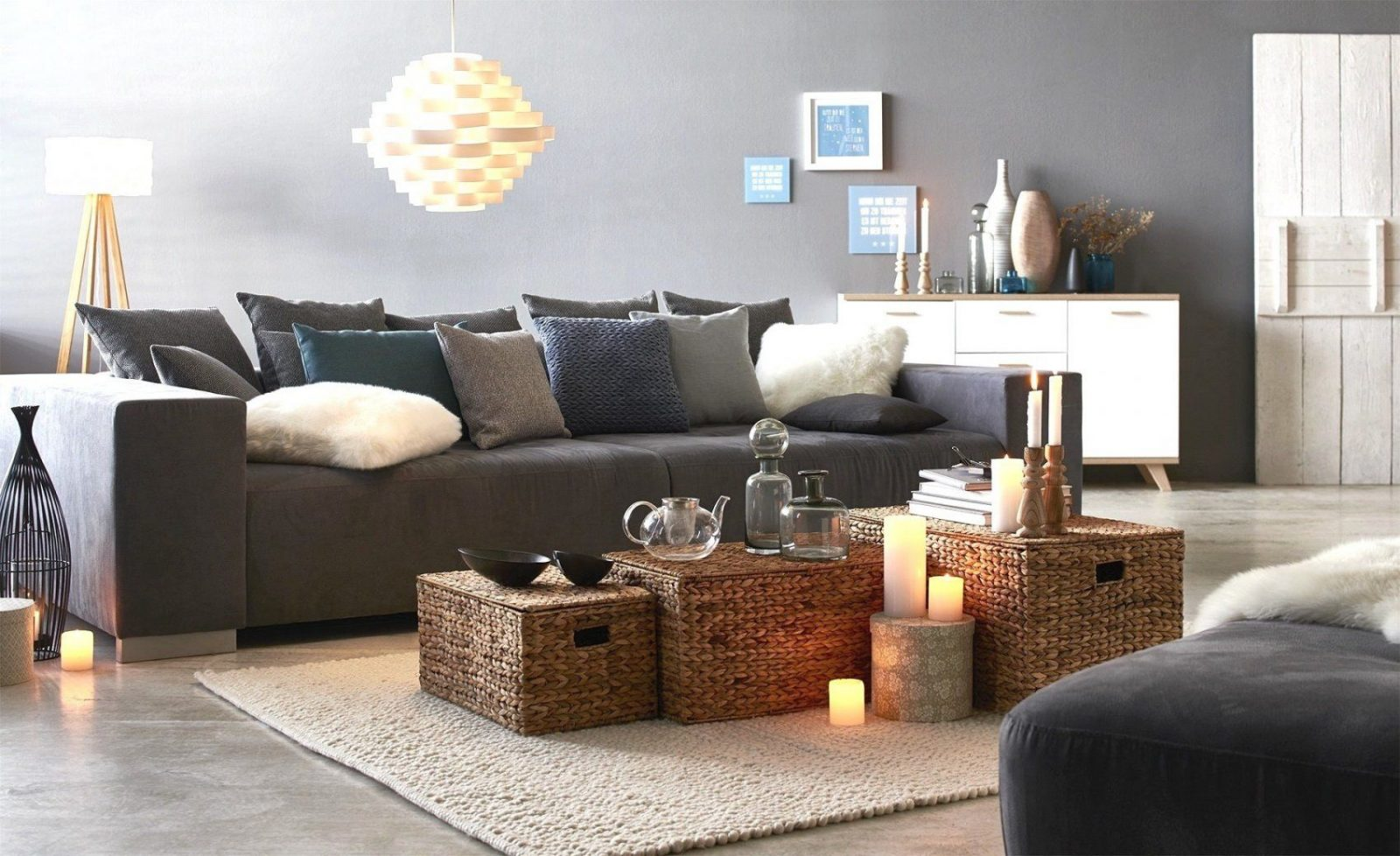 graues sofa welche wandfarbe haus design ideen. Black Bedroom Furniture Sets. Home Design Ideas