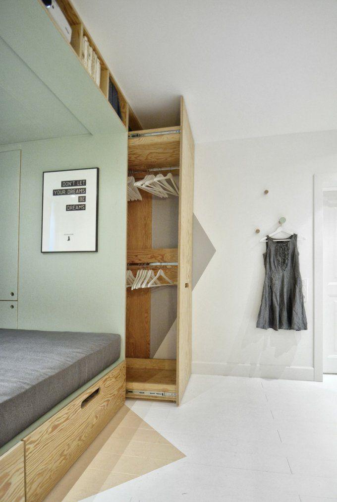 Wohnideen Für Kleine Räume  25 Wohn & Schlafzimmer von Schlafzimmer Ideen Kleine Räume Photo