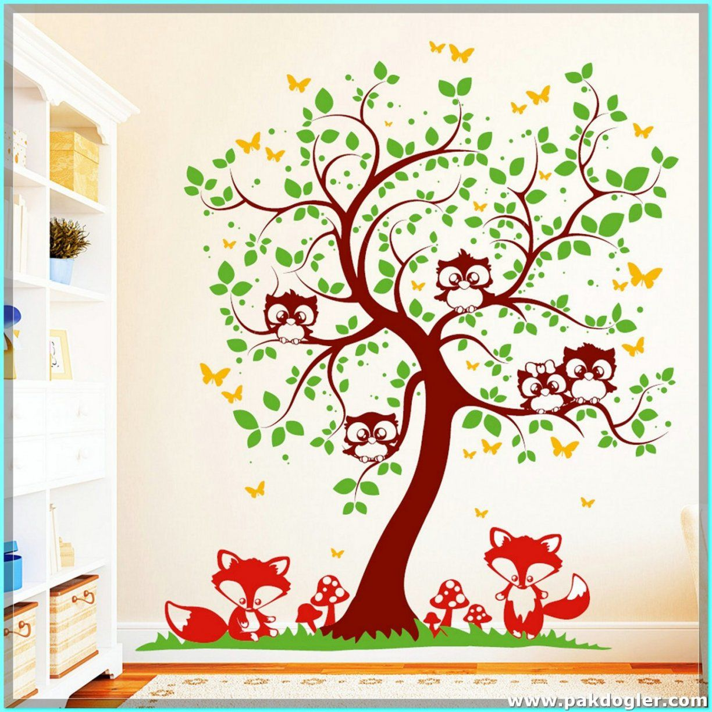 Wohnideen  Kinderzimmer Baum Wandtattoo Auch Schön Elegant von Wandtattoo Baum Mit Eulen Bild