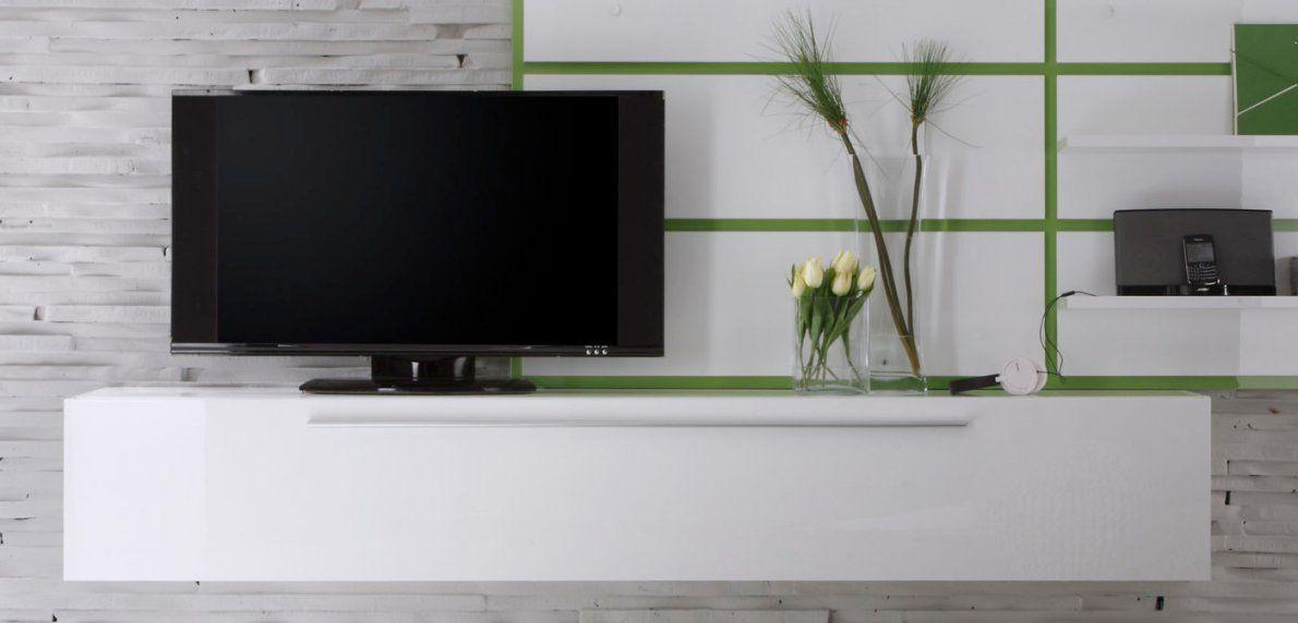 Wohnkultur Lowboard Weis Hangend Reverse Tv Wand Haengend Avec von Lowboard Hängend Weiß Hochglanz Bild