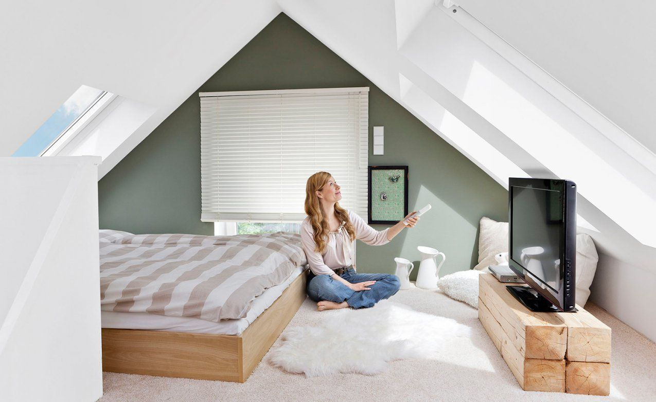 Wohnung Mit Dachschräge Chic Einrichten  Raumideen von Jugendzimmer Einrichten Mit Dachschräge Bild