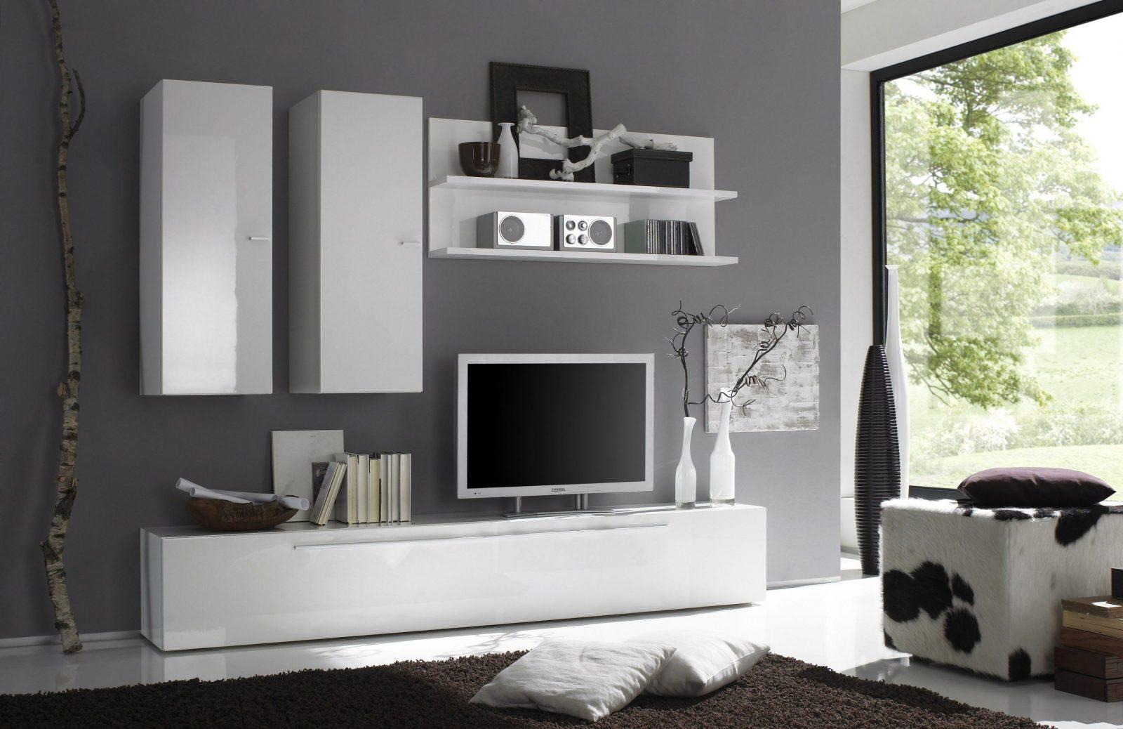Wohnwand Hochglanz Weiß Weis Wohnzimmer Ausergewohnlich Schrankwand von Wohnwand Weiß Hochglanz Hängend Photo