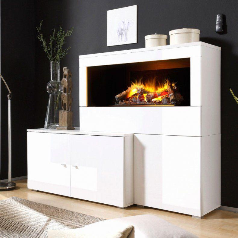 Moderne Wohnwand Mit Integriertem Bioethanol Kamin Home Innovation ...