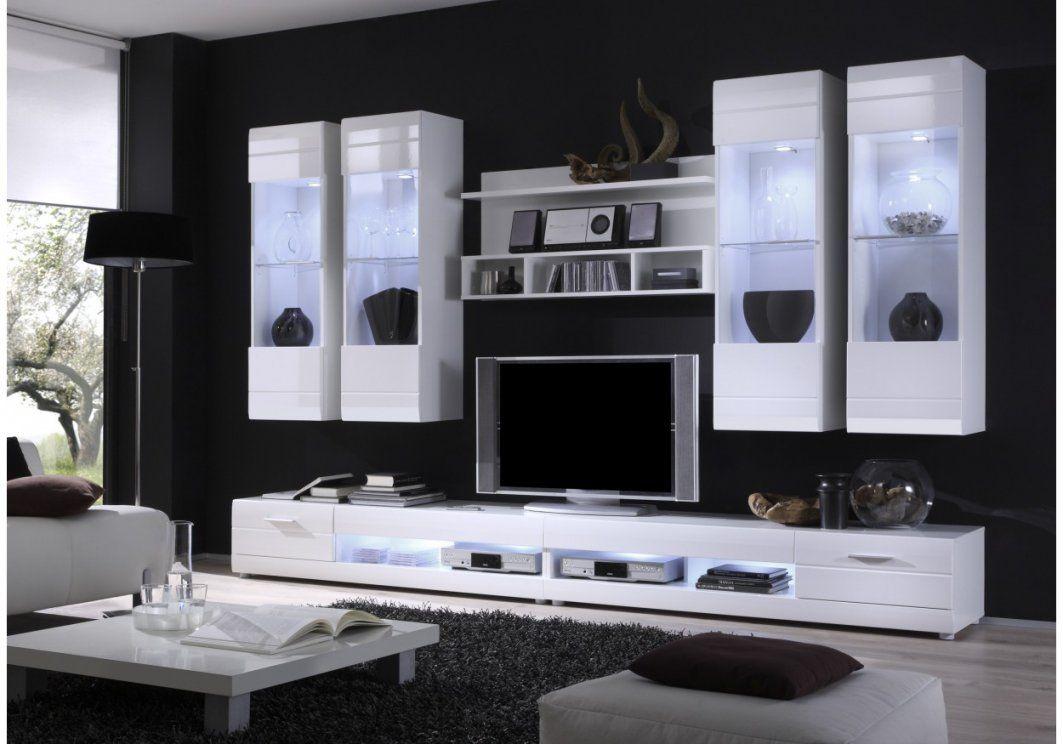 Wohnwand Modern Weiß Hochglanz  Gispatcher von Wohnwand Modern Weiss Hochglanz Bild