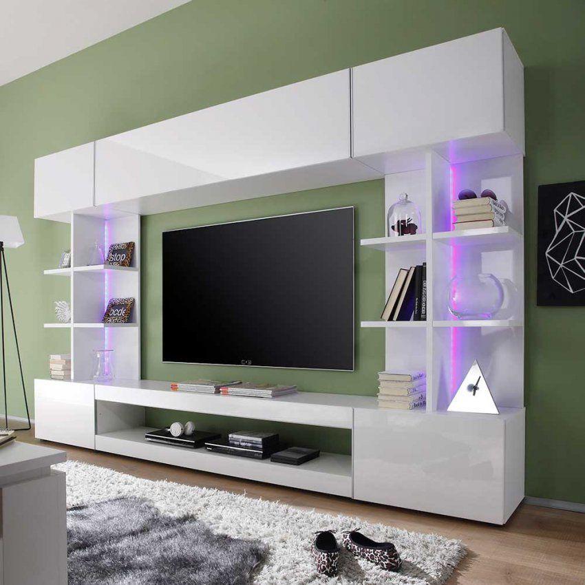 Wohnwand Modern Weiß Hochglanz Idee Und Zeitgenössisch Badezimmer von Wohnwand Modern Weiss Hochglanz Bild