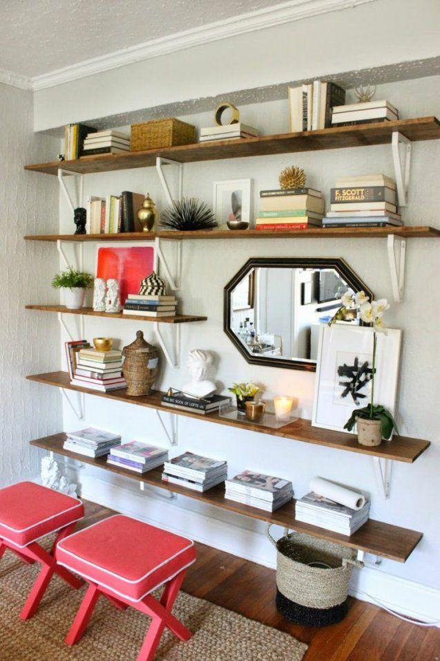 Wohnwand Selber Bauen  35 Einfache Ideen Zum Nachbauen von Regal Selber Bauen Ideen Bild