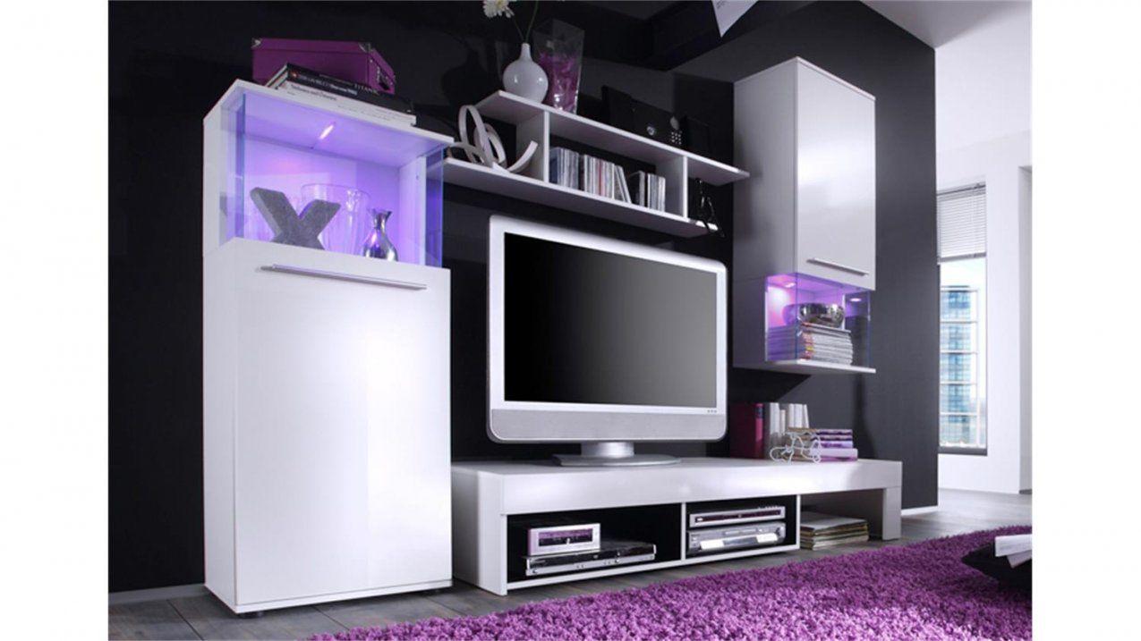 Wohnwand Weiß Oder Schwarzanbauwand  Günstig Online Kaufen von Wohnwand Weiß Hochglanz Günstig Bild