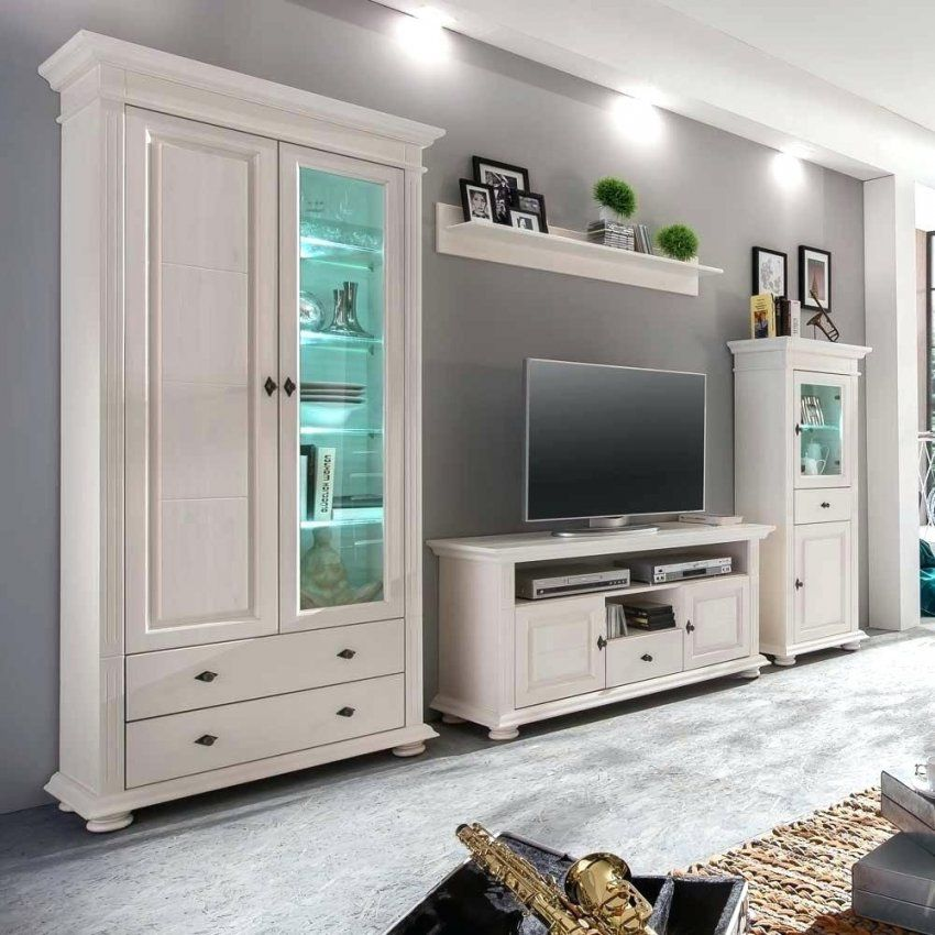 wohnwand weiss landhausstil cannes braun ikea. Black Bedroom Furniture Sets. Home Design Ideas