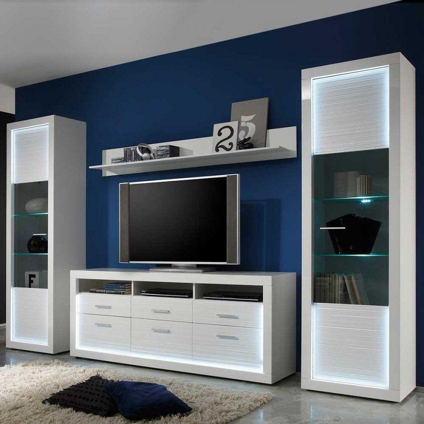 Wohnwände Weiß Mit Holz Wohnzimmer Wohnwand Weia Hochglanz von Wohnwand Antik Weiß Gewischt Bild