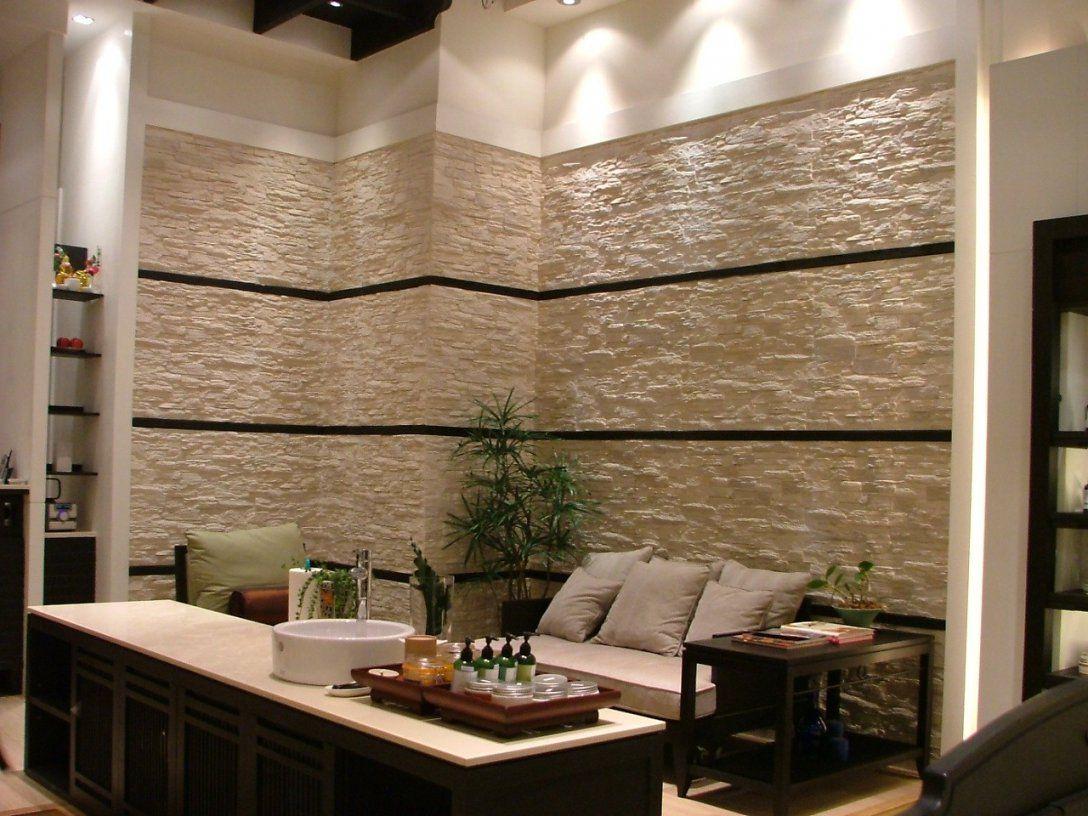 Wohnzimmer Faszinierend Tapete Steinoptik Wohnzimmer Design von Tapete In Steinoptik Wohnzimmer Bild