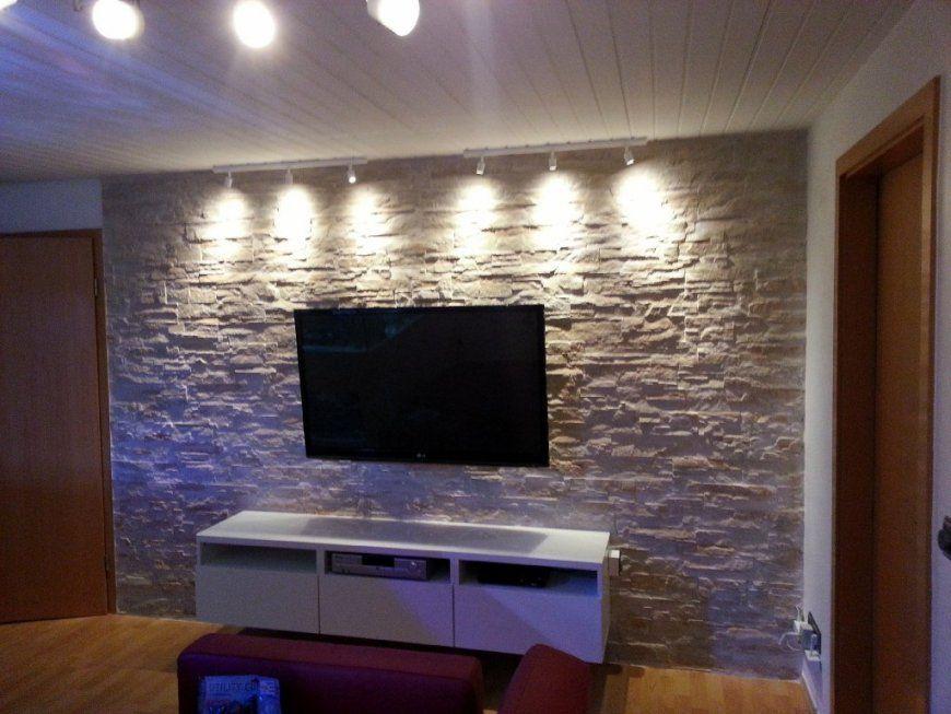 Wohnzimmer Ideen Tv Wand Stein von Wände Mit Steinen Gestalten Bild