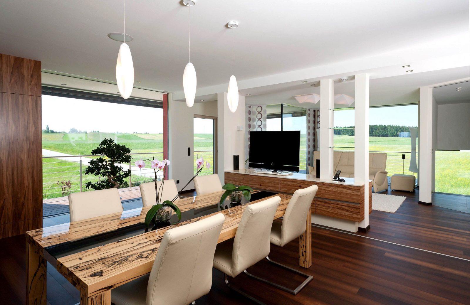 Wohnzimmer Mit Essbereich Gestalten Gepolsterte On Moderne Deko Idee Von Modernes  Wohnzimmer Mit Essbereich Bild