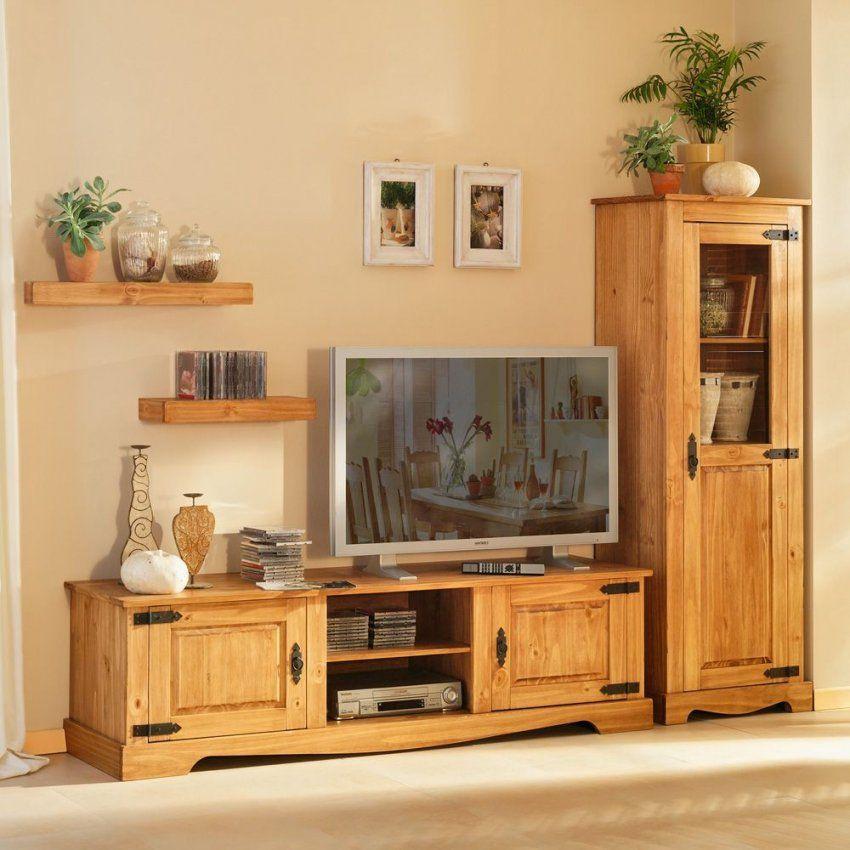 Wohnzimmerschrank Kiefer Kaufen Auf Pharao24 Wohnzimmer Tv Wohnwand von Wohnwand Kiefer Massiv Natur Lackiert Bild