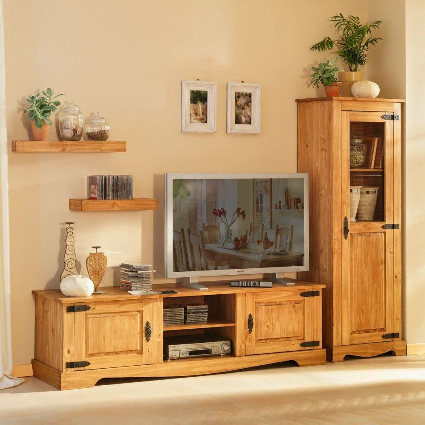 Wohnzimmerschrank Kiefer Kaufen Auf Pharao24 Wohnzimmer Tv Wohnwand von Wohnzimmerschrank Kiefer Gelaugt Geölt Bild