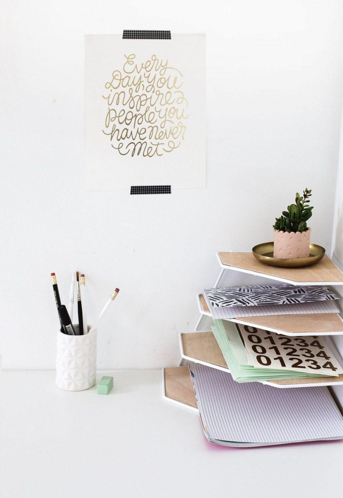 Schreibtisch Organizer Diy 2021