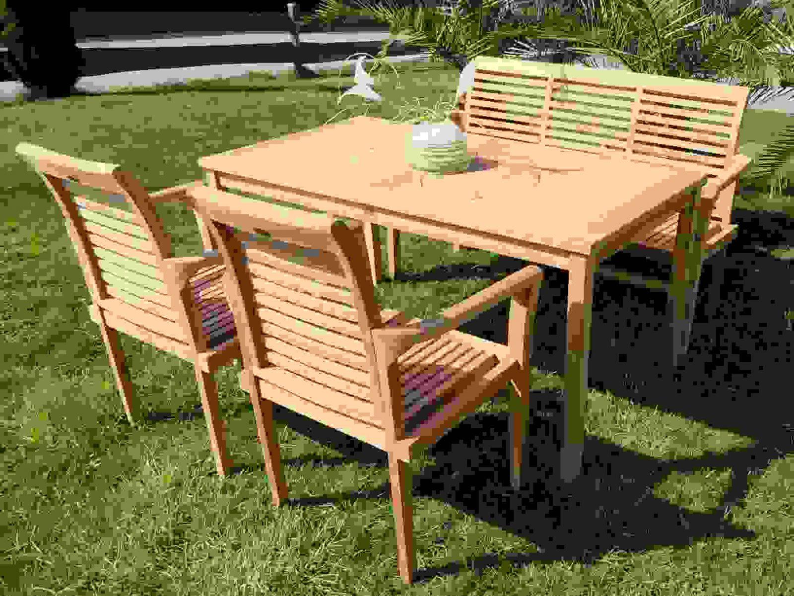 Wunderbar Gartenset Holz Set Alpen 150X80 2Alpen Bank 11 Wz Von von Gartenmöbel Set Holz Mit Bank Bild
