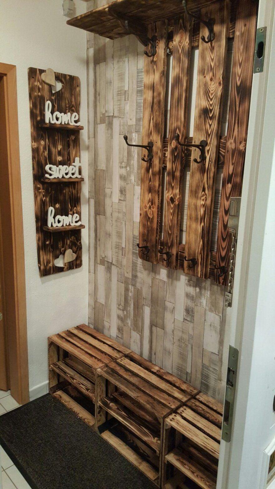 Wunderbar Schuhregal Aus Weinkisten Wand Accessoires Mit Garderobe von Schuhregal Selber Bauen Weinkisten Bild