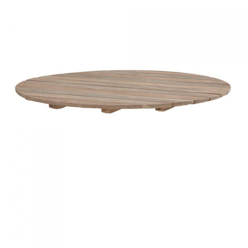 Wunderbar Tischplatte 4Seasons Cricket Teakholzplatte Ø 130Cm von Tischplatte Nach Maß Kunststoff Bild