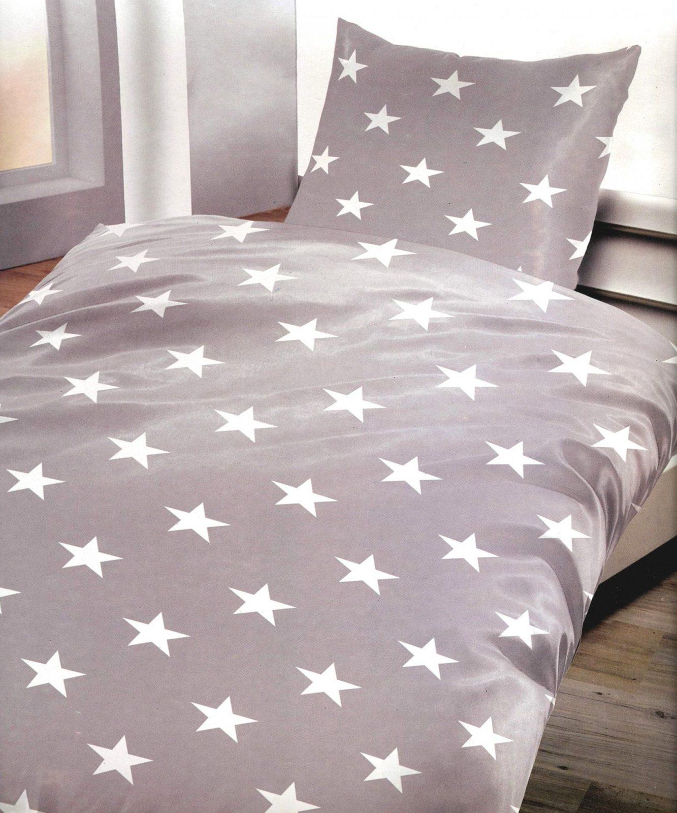 Wunderbare Ideen Bettwäsche 100×200 Und Zufriedene 3 Tlg Microfaser von Bettwäsche Sterne Grau 155X220 Bild