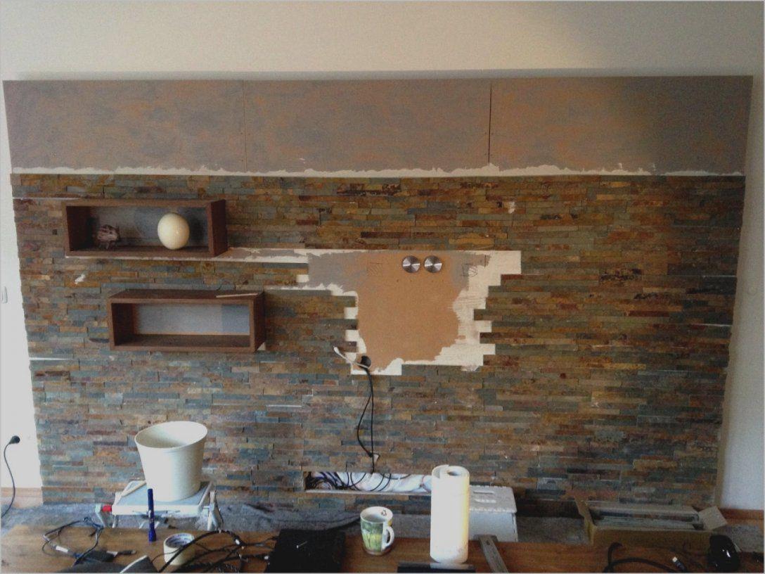 Wunderbare Wohnwand Selber Bauen Stein Mediawand Selbst Gebaut von Wohnwand Selber Bauen Anleitung Bild