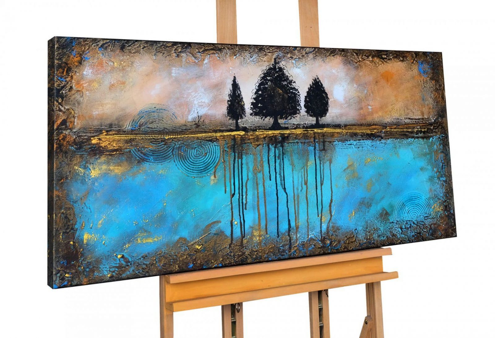 Xxl Acrylbild Abstrakt Baum Braun Kaufen  Kunstloft von Bilder Acryl Modern Abstrakt Bild