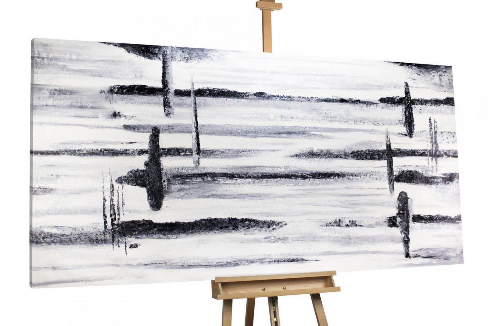 Xxlbild Schwarz & Weiß Auf Leinwand Kaufen  Kunstloft von Gemalte Bilder Schwarz Weiß Photo